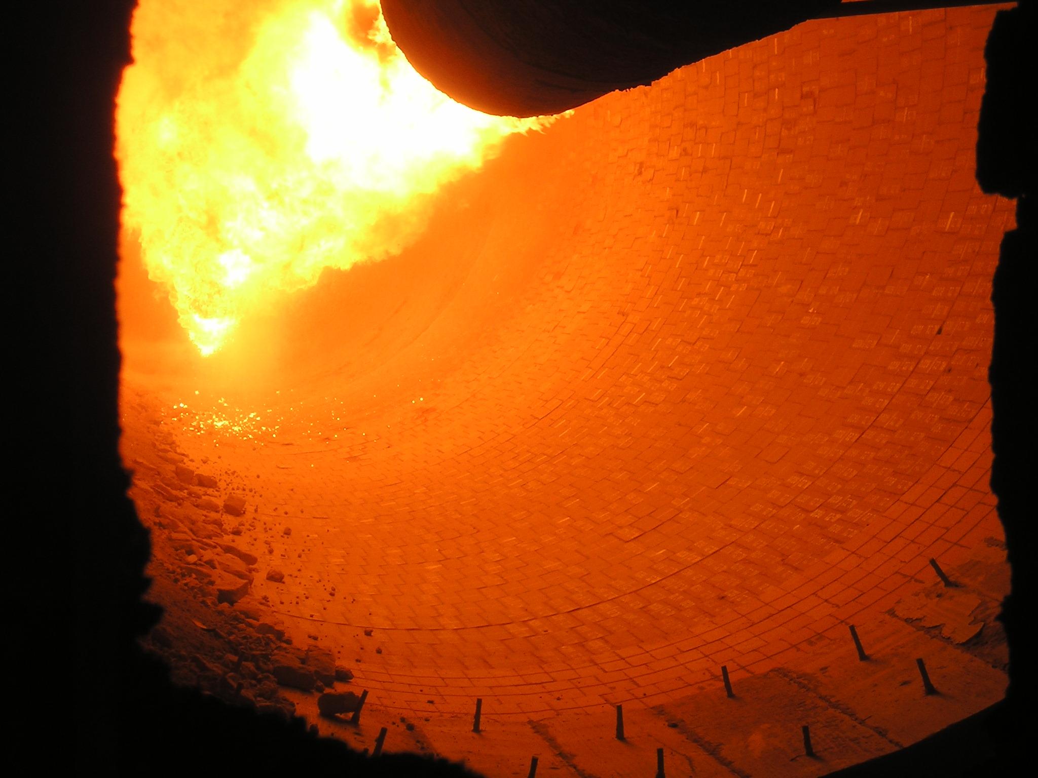 Kiln burner firing